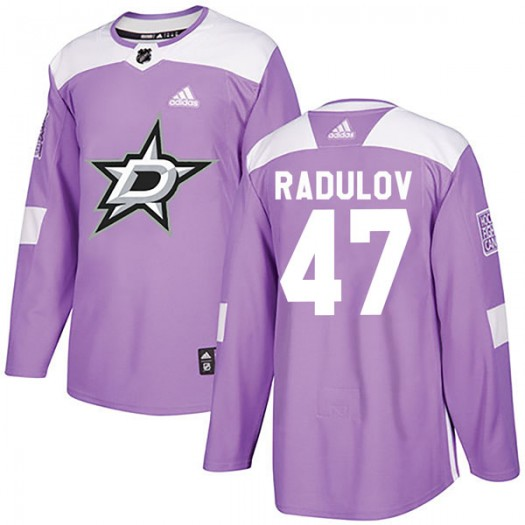 Alexander Radulov Dallas Stars Youth Adidas Authentic Purple Fights Cancer Practice Jersey