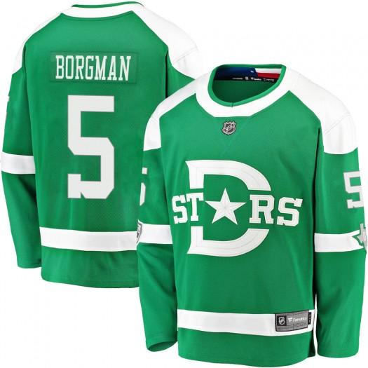Andreas Borgman Dallas Stars Men's Fanatics Branded Green 2020 Winter Classic Breakaway Player Jersey