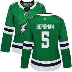 Andreas Borgman Dallas Stars Women's Adidas Authentic Green Home Jersey