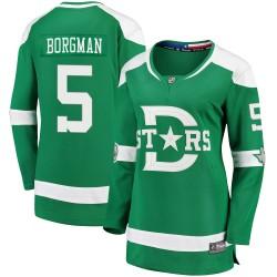 Andreas Borgman Dallas Stars Women's Fanatics Branded Green 2020 Winter Classic Breakaway Player Jersey