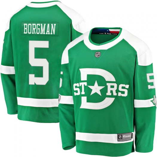 Andreas Borgman Dallas Stars Youth Fanatics Branded Green 2020 Winter Classic Breakaway Player Jersey