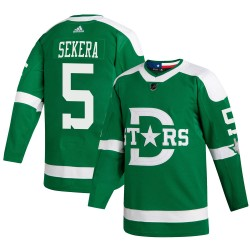 Andrej Sekera Dallas Stars Youth Adidas Authentic Green 2020 Winter Classic Jersey