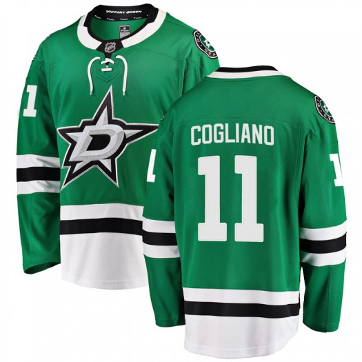 Andrew Cogliano Dallas Stars Men's Fanatics Branded Green Breakaway Home Jersey