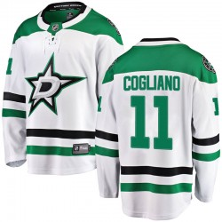 Andrew Cogliano Dallas Stars Youth Fanatics Branded White Breakaway Away Jersey