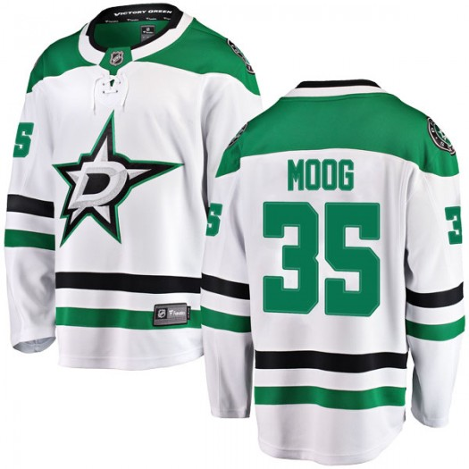 Andy Moog Dallas Stars Men's Fanatics Branded White Breakaway Away Jersey