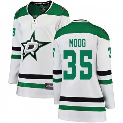 Andy Moog Dallas Stars Women's Fanatics Branded White Breakaway Away Jersey