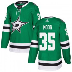 Andy Moog Dallas Stars Youth Adidas Authentic Green Home Jersey