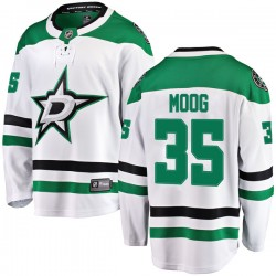 Andy Moog Dallas Stars Youth Fanatics Branded White Breakaway Away Jersey