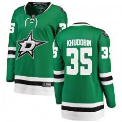 Anton Khudobin Dallas Stars Women's Fanatics Branded Green Breakaway Home Jersey