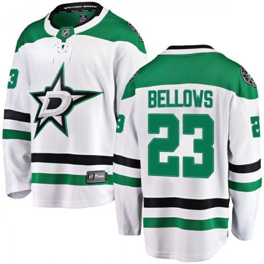 Brian Bellows Dallas Stars Men's Fanatics Branded White Breakaway Away Jersey