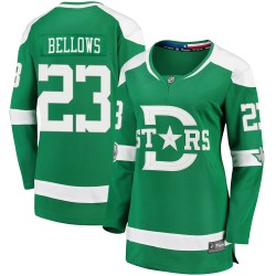 Brian Bellows Dallas Stars Women's Fanatics Branded Green 2020 Winter Classic Breakaway Jersey
