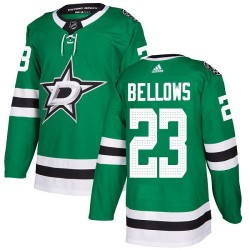 Brian Bellows Dallas Stars Youth Adidas Authentic Green Home Jersey