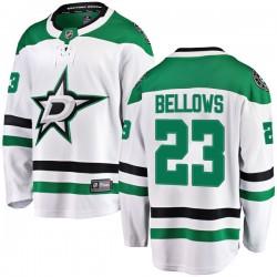 Brian Bellows Dallas Stars Youth Fanatics Branded White Breakaway Away Jersey