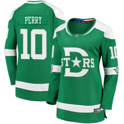 Corey Perry Dallas Stars Women's Fanatics Branded Green 2020 Winter Classic Breakaway Jersey