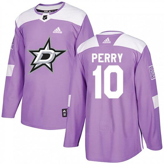 Corey Perry Dallas Stars Youth Adidas Authentic Purple Fights Cancer Practice Jersey