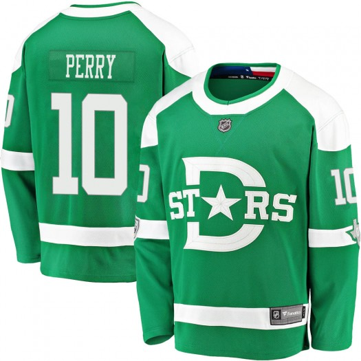 Corey Perry Dallas Stars Youth Fanatics Branded Green 2020 Winter Classic Breakaway Jersey