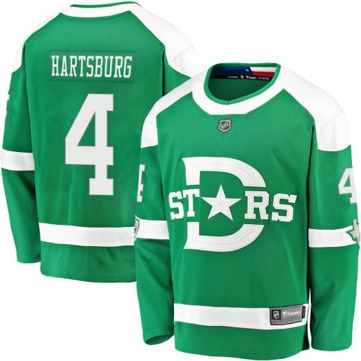 Craig Hartsburg Dallas Stars Men's Fanatics Branded Green 2020 Winter Classic Breakaway Jersey