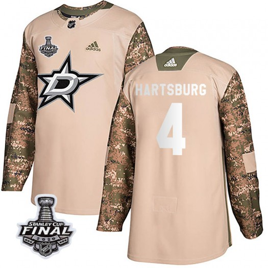Craig Hartsburg Dallas Stars Youth Adidas Authentic Camo Veterans Day Practice 2020 Stanley Cup Final Bound Jersey