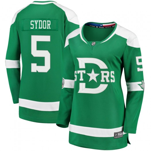 Darryl Sydor Dallas Stars Women's Fanatics Branded Green 2020 Winter Classic Breakaway Jersey