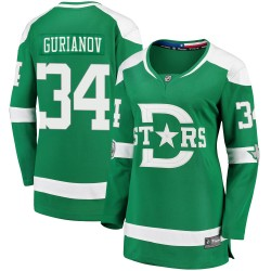 Denis Gurianov Dallas Stars Women's Fanatics Branded Green 2020 Winter Classic Breakaway Jersey
