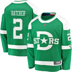 Derian Hatcher Dallas Stars Men's Fanatics Branded Green 2020 Winter Classic Breakaway Jersey