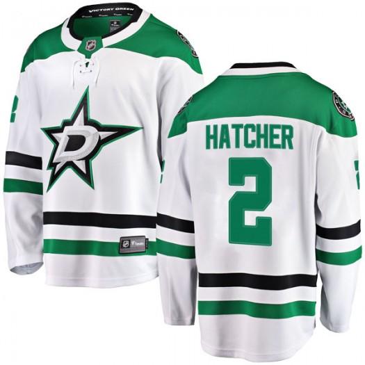 Derian Hatcher Dallas Stars Men's Fanatics Branded White Breakaway Away Jersey