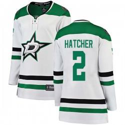 Derian Hatcher Dallas Stars Women's Fanatics Branded White Breakaway Away Jersey