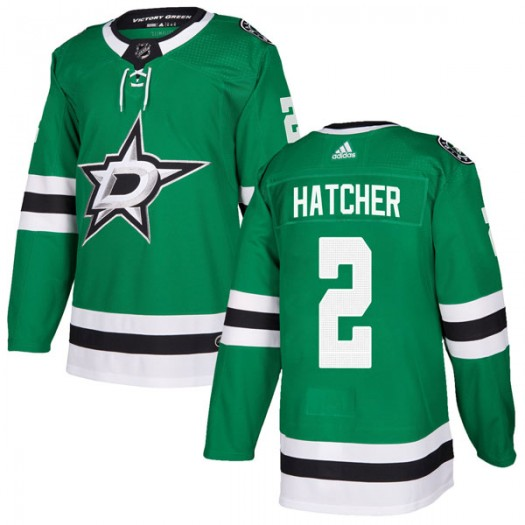 Derian Hatcher Dallas Stars Youth Adidas Authentic Green Home Jersey