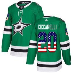 Dino Ciccarelli Dallas Stars Men's Adidas Authentic Green USA Flag Fashion Jersey