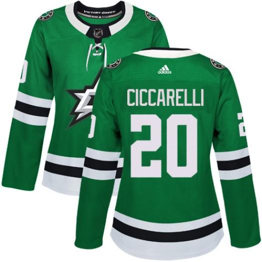 Dino Ciccarelli Dallas Stars Women's Adidas Authentic Green Home Jersey
