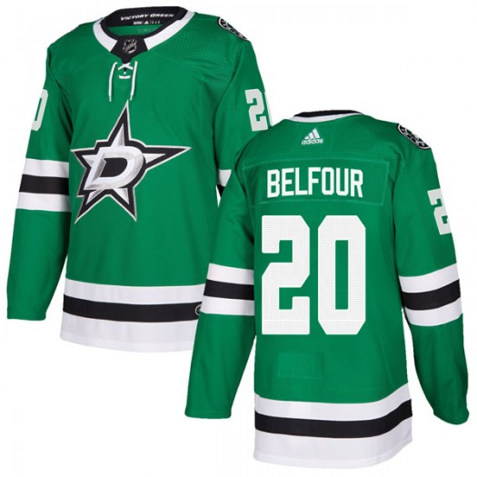 Ed Belfour Dallas Stars Men's Adidas Authentic Green Home Jersey