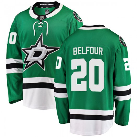 Ed Belfour Dallas Stars Men's Fanatics Branded Green Breakaway Home Jersey