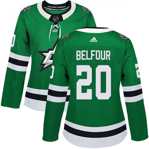 Ed Belfour Dallas Stars Women's Adidas Authentic Green Home Jersey