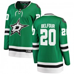 Ed Belfour Dallas Stars Women's Fanatics Branded Green Breakaway Home Jersey