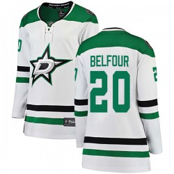 Ed Belfour Dallas Stars Women's Fanatics Branded White Breakaway Away Jersey