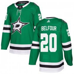 Ed Belfour Dallas Stars Youth Adidas Authentic Green Home Jersey