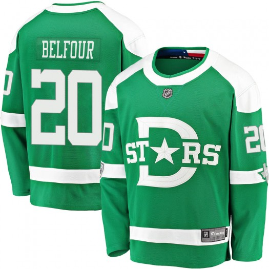 Ed Belfour Dallas Stars Youth Fanatics Branded Green 2020 Winter Classic Breakaway Jersey