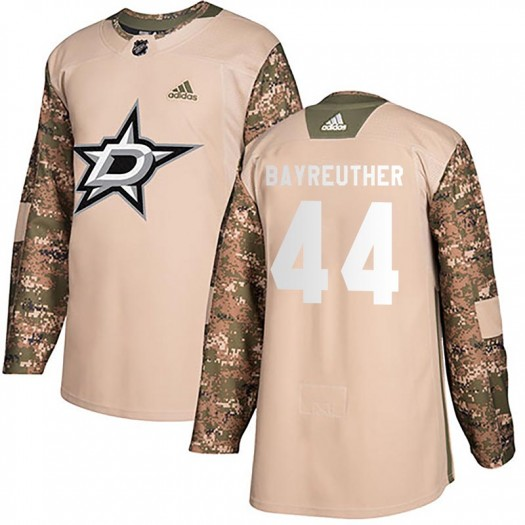 Gavin Bayreuther Dallas Stars Men's Adidas Authentic Camo Veterans Day Practice Jersey
