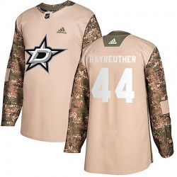 Gavin Bayreuther Dallas Stars Youth Adidas Authentic Camo Veterans Day Practice Jersey