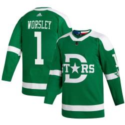 Gump Worsley Dallas Stars Men's Adidas Authentic Green 2020 Winter Classic Jersey