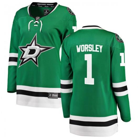 Gump Worsley Dallas Stars Women's Fanatics Branded Green Breakaway Home Jersey