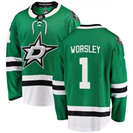 Gump Worsley Dallas Stars Youth Fanatics Branded Green Breakaway Home Jersey