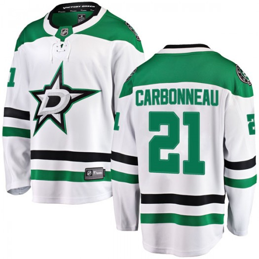 Guy Carbonneau Dallas Stars Youth Fanatics Branded White Breakaway Away Jersey