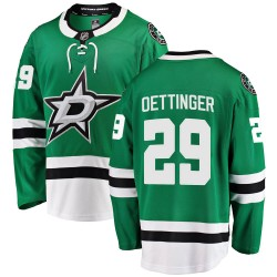 Jake Oettinger Dallas Stars Men's Fanatics Branded Green ized Breakaway Home Jersey