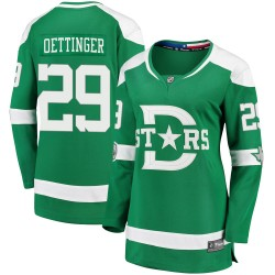 Jake Oettinger Dallas Stars Women's Fanatics Branded Green ized 2020 Winter Classic Breakaway Player Jersey