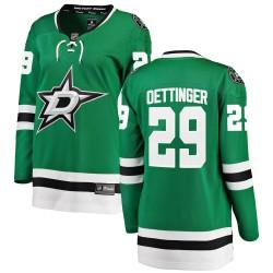 Jake Oettinger Dallas Stars Women's Fanatics Branded Green ized Breakaway Home Jersey