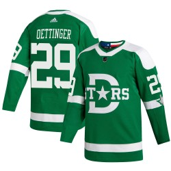 Jake Oettinger Dallas Stars Youth Adidas Authentic Green ized 2020 Winter Classic Player Jersey