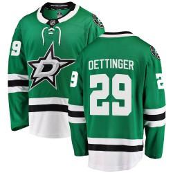 Jake Oettinger Dallas Stars Youth Fanatics Branded Green ized Breakaway Home Jersey