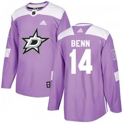 Jamie Benn Dallas Stars Men's Adidas Authentic Purple Fights Cancer Practice Jersey