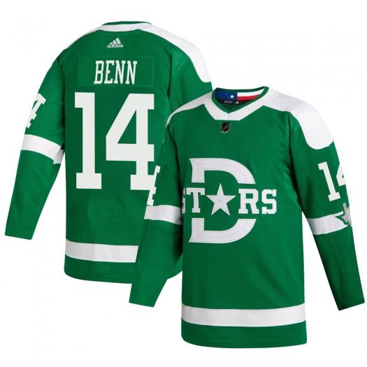 Jamie Benn Dallas Stars Youth Adidas Authentic Green 2020 Winter Classic Jersey